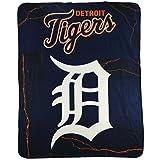 "MLB Lightweight Fleece Blanket (50"" x 60"") (Detroit Tigers)"