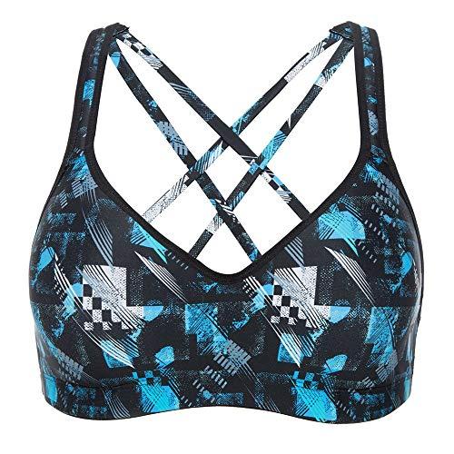 CharmLeaks Women Strappy Bra Workout Bra Top Workout Clothes Workout Tanks Sports Bra XL, Dark Blue