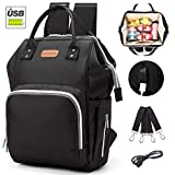 Large Capacity Diaper Bag Diaper Backpack with USB Charging Port, Multi-Function Travel Backpack