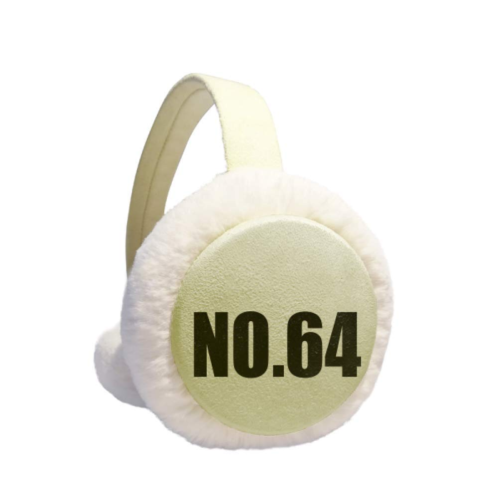 Lucky No.64 Number Name Winter Warm Ear Muffs Faux Fur Ear