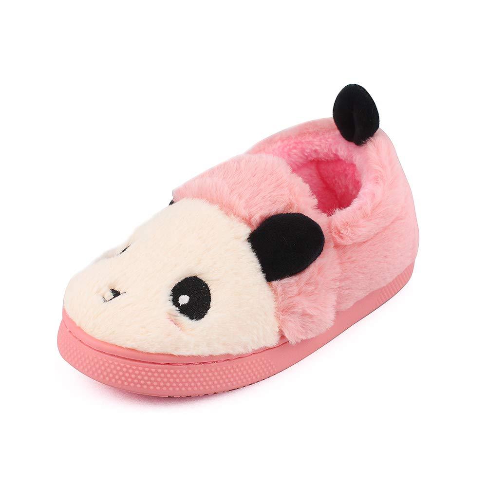 MK MATT KEELY Kids Panda Slippers Plush Animal Autumn and Winter Warm Cotton Shoes Toddler Girls by MK MATT KEELY (Image #1)