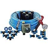 Orbit 50020 In-Ground Blu-Lock Tubing System and Digital Hose Faucet Timer, 1-Zone Sprinkler Kit
