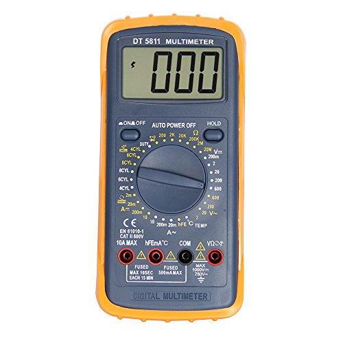 OLSUS DT-5811 LCD Handheld Digital Multimeter for Home and Car - Gray by OLSUS (Image #1)