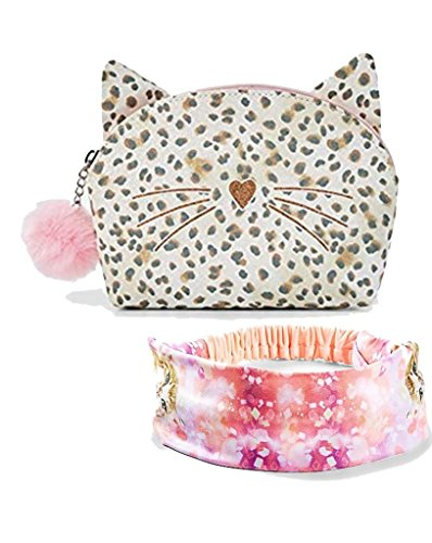 - Justice Cat Case Pouch Bag & Head Wrap Headband Kitten