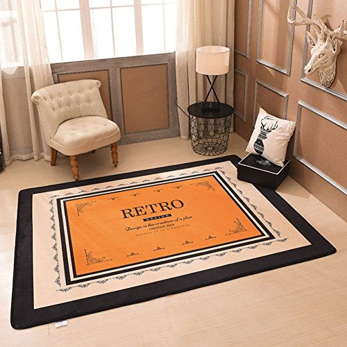 HOMEE Antikid Carpets Crawling Mats Children'S European Absorbent Yoga,F,150200Cm(59X79Inch) by HOMEE