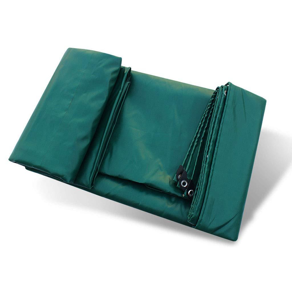 厚い防水布濃い緑の防水布3つの抗布防水布PVCコーティングテープカーのキャンバス、様々なサイズ (サイズ さいず : 5m*6m) 5m*6m  B07J57H7M6