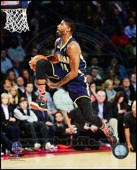 Amazon paul george slam dunk contest 2014 nba all star game paul george slam dunk contest 2014 nba all star game action art poster print unknown voltagebd Gallery