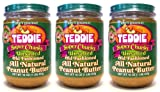 Teddie Super Chunky UNSALTED All Natural Peanut Butter (3 Pack) 16 oz Jars