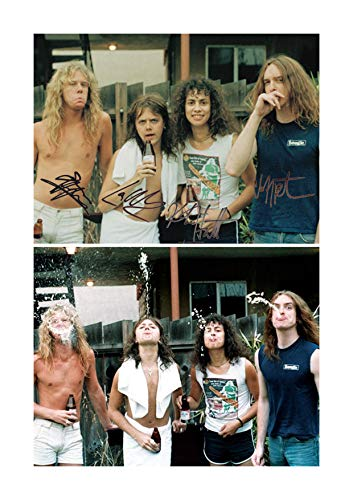 Engravia Digital Metallica 1985 Reproduction Signature Photograph Poster Photo A4 Print (Unframed)