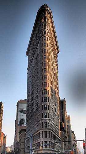 Home Comforts Framed Art for Your Wall New York Building Flatiron 1902 10x13 Frame ()