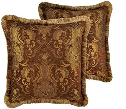 Sherry Kline China Art Brown 20-inch Decorative Throw Pillows Set of 2