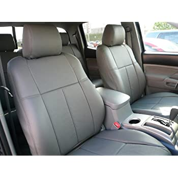 Amazoncom Clazzio 211422gry Grey Leather Front and Rear Row Seat