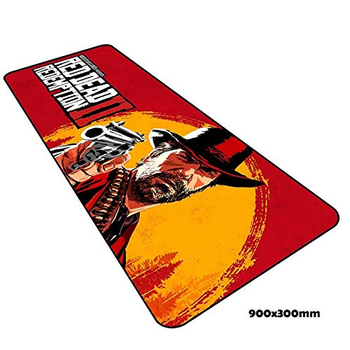 Price comparison product image Red Dead Redemption 2 Big Size Gaming Mousepad 900x300x2mm (35.4x11.8x0.07 inch) Pad to XL - Extended Mouse Mat by LP Chiel (#8)