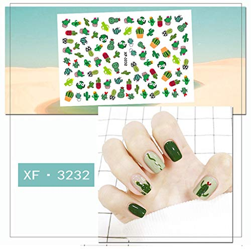 Eaktool Summer Colorful Fruit Patch Small Fresh Plants Cute 8D Nail ()