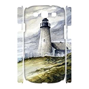 LZHCASE Cover Case Lighthouse 3D Diy For Samsung Galaxy S3 I9300 [Pattern-1]