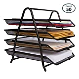 Pack of 50 25 Home Décor 4-Letter Tray Desk Organizer Black