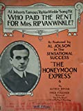 img - for Who Paid the Rent for Mrs. Rip Van Winkle? (Al Johnson on Cover) book / textbook / text book