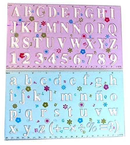 Lowercase Letter Stencils (Hawk 2 Piece Set Of Letter And Number Stencils-Upper And Lower Case: CR-90456)