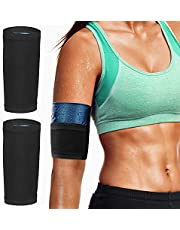 MoKo Arm Trimmer Bands, 1 Pair Upper Slimming Arm Compression Sleeves Shaper Wraps for Flabby Arms, Elastic Sport Workout Exercise Armbands for Women Men Girls Weight Loss
