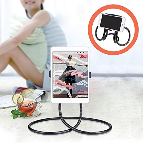 Cell Phone Neck Holder, Tablet Holder iPad Stand Universal Phone Stand, Lazy Bracket, DIY FreeRotating Gooseneck Mounts with Neck Lazy Phone Holder