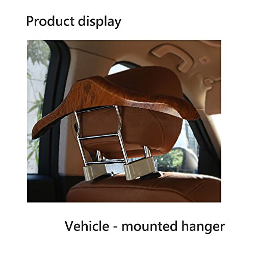 Car Hanger Stainless Steel Peach wood Luxurious Car Hanger, 16.210.2 inches