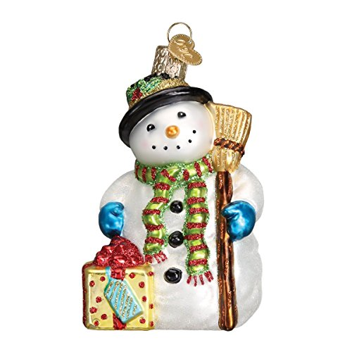 (Old World Christmas Ornaments: Gleeful Snowman Glass Blown Ornaments for Christmas)