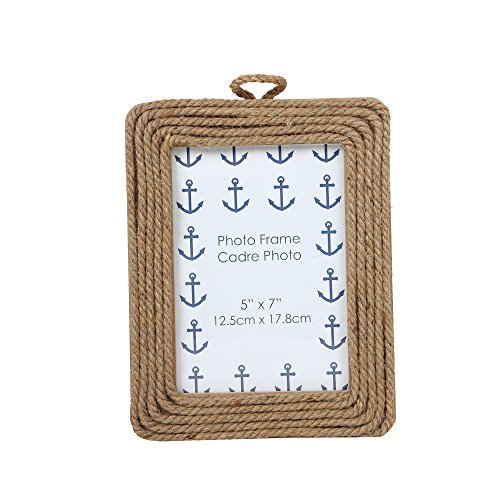 l Rope Picture Frame, 5 x 7 inches, Natural Beige ()