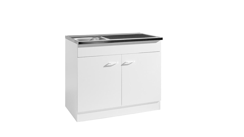HELD MÖBEL Spülenschrank, Breite 80 cm weiß: Amazon.de: Küche & Haushalt