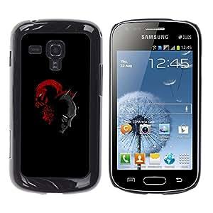 iKiki Tech / Estuche rígido - Bat Hombre del super héroe - Samsung Galaxy S Duos S7562