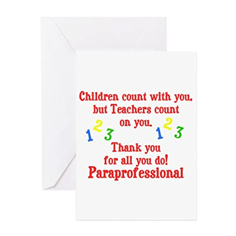 Amazon Com Cafepress Paraprofessional Greeting Card 10 Pack