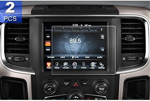 [2PCS] LFOTPP 8 4-Inch 2013-2018 Dodge Ram 1500 2500 3500 Uconnect PET  Plastic Screen Protector, Navigation Center Touch Media Protective Film