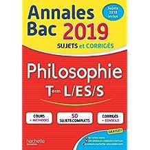 Annales BAC Philosophie Tle L, ES, S