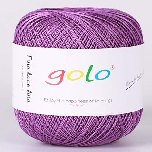 Crochet Thread Yarns for Begingers Size10-100% Contton Yarn for Knitting Crochet DIY Hardanger Cross Sitch Crochet Thread Balls Rainbow Turquoise 39 Colors Avilable (Violet) ()