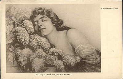 Upajajaca Won - Parfum Enivrant Women Original Vintage Postcard