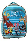 "Disney Zootopia Party Animals Backpack Childrens 17"" School Camp Back Pack"