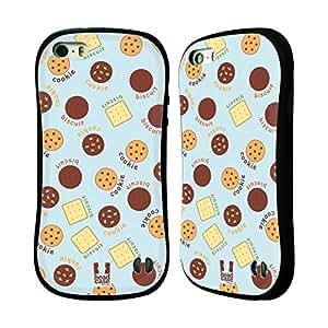 Head Case Designs Cookie Pajama Patterns Hybrid Gel Back Case for Apple iPhone 5 5s