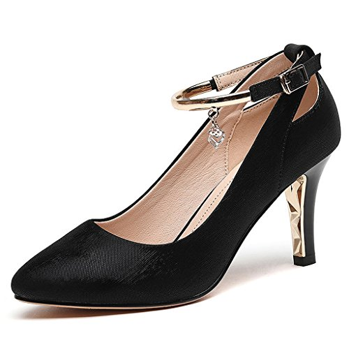 section mode élégant mince automne femmes Noir hauts chaussures des Talons wq6O0H