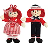 Johnson Smith Co. (Set) Raggedy Ann & Andy Count Your Blessings Dolls Embroidered w/ Yarn Hair