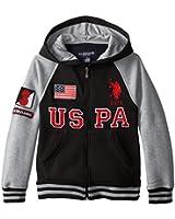U.S. Polo Assn. Big Boys' Fleece Hoodie with Jersey Hood Lining