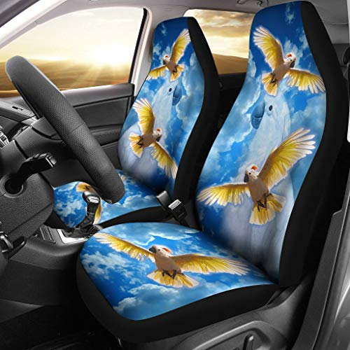 Petz Plus Salmon-Crested Cockatoo Print Car Seat (Salmon Crested)