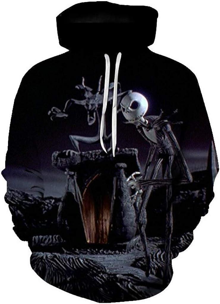 The Nightmare Before Christmas Sally Jack Skellington Hoodie 3D Pullover Jacket