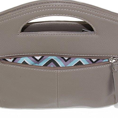Clutch Handbag Shoulder Taupe Hadaki Convertable and Astrid ZnAAUqf