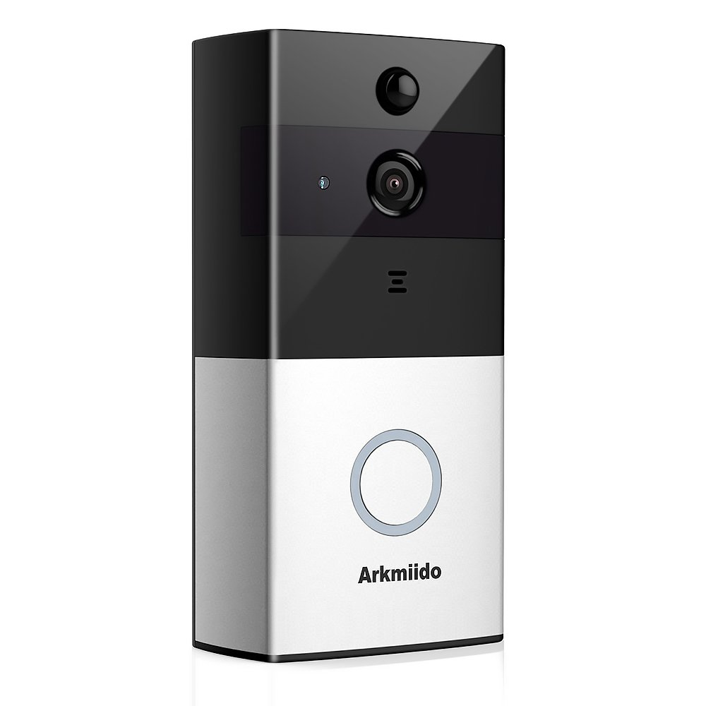 WiFi Enabled Video Doorbell Camera 720P HD Two-way Audio,Night Vision and Smart App Control, 2.4Ghz [ 2 Batteries Included ]