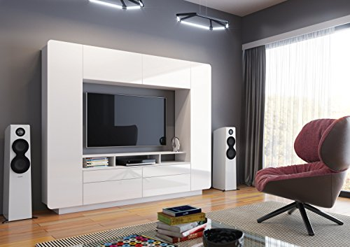 Neo Modern Entertainment Center For Tv Up To 60 White