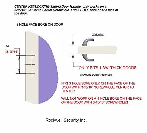 Sonoma Sliding Glass Door Handle with Center Keylock in Antique Brass Finish fits 1-3/4'' thick doors only. Durable hardware door locks, door handles, door hardware by Rockwell (Image #1)