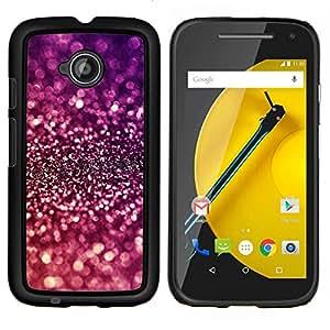 LECELL--Funda protectora / Cubierta / Piel For Motorola Moto E2 E2nd Gen -- Sparkle púrpura brillante reflectante --