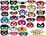 Pixie Supplies Superhero Felt Masks Avengers Party Supplies Favors Kids Costume Marvel 30 Pack 100 Free Stickers