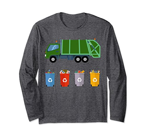Unisex Recycling Trash Truck Shirt Kids Garbage Truck Shirt 2XL Dark Heather