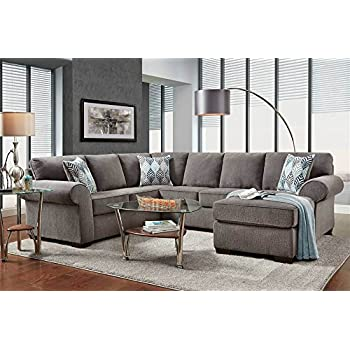 Amazon.com: 3330 Café Expreso Italiano piel Seccional sofá ...