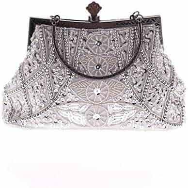 Color : Black FeliciaJuan Suede Evening Bag Womens Bag Handmade Beaded Evening Bag Dress Evening Party Diamond Studded Clutch